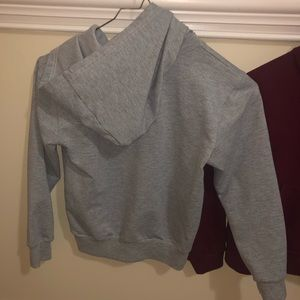 2 vtg crop hoodies Adidas sweatshirt fits xs-s